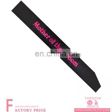 Mother Bride Sash Black Sash Bride