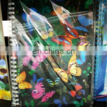 Lenticular a4 3d joy top school notebook for promotions