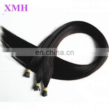 high quality Stick I tip keratin hair extensions for black women brazilian hair