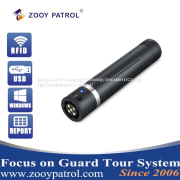 Z-6200 Guard Tour Patrol System for Security Guard Clock in Use