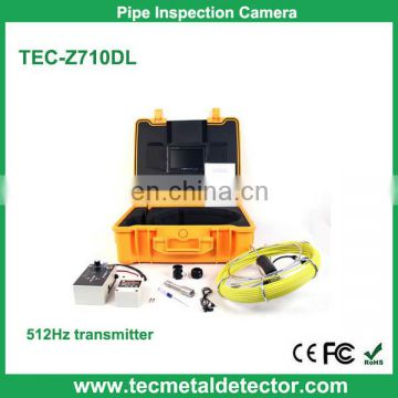 50m Cable Pipeline Inspection Camera, Drain Pipe Sewer Camera with 512 Hz Transmitter TEC-Z710DL