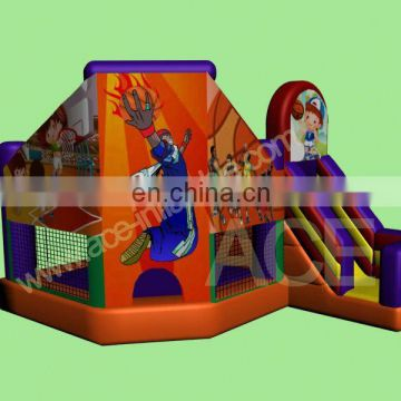 crazy basketball theme commercial grade inflatable combo games