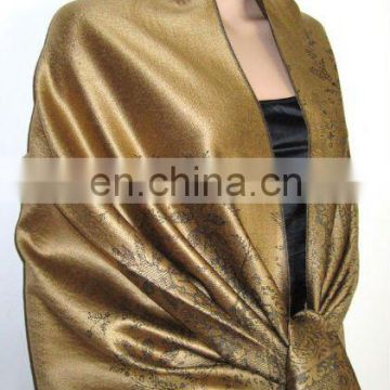 cashmere shawl made by silk and high quality acrylic (JDS-030_1422#)