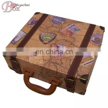 Hotsell Smart Carton Pattern Cardboard Suitcase