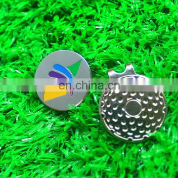 No mold charge custom golf ball marker hat clip /magnet golf ball marker cap clip