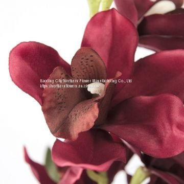 Silk Artificial Orchid for Home Decoration