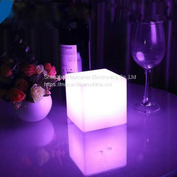 LED Color Changing Waterproof Wireless Light Up Cube