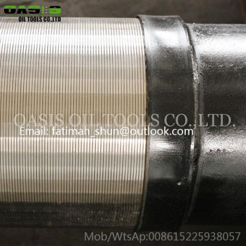 219mm double layer wrapped well screens all-welded square slot cylinder screen