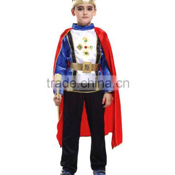 Boy prince halloween wholesale costume children costumes rhinestone crown coslpay clothing birthday theme party wear fairy tale