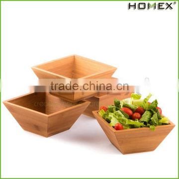 Bamboo Square Salad Bowl Kitchen Bowl Set Homex_BSCI Factory