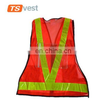 2017 custom PVC reflective strips traffic security vest