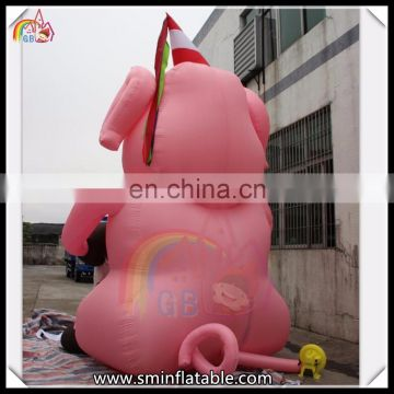 Outdoor Inflatable Advertising Standing Pig Inflatable Pig On Sale