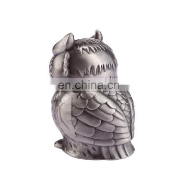 Pewter owl money box