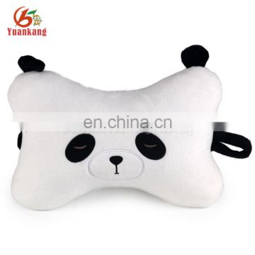 custom cotton filled plush bone shape panda pillow