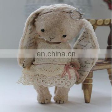 A little bunny. artist Bear handmade stuffed Bunny Cecille SOLD,Bun Bun mini plush Bunny Pattern from Luvly Bears DIY