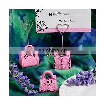 Pretty in Pink Handbag Place Card Holders