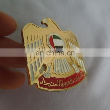 UAE national day gift - metal engraved dubai falcon logo phone decoration label self-adhesive type