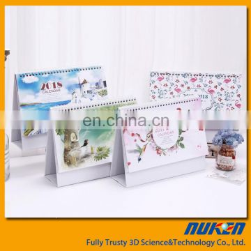 High quality custom advent 3d plastic desk calendar with custom stand