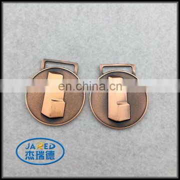 Promotional high quality round shape metal logo plate