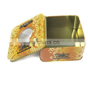 Popular perfume watch tin box with window