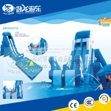 Commercial used swimming pool slide, large inflatable pool ...