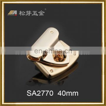 2016 Fashion Classic Metal Turn Lock For Bag Accessories, Custom Twist Clip Lock