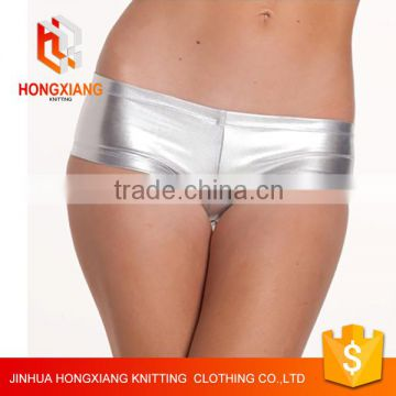 Hongxiang Nightclub performances skirt shorts, PU leather shorts, sexy underwear, boxer underwear 6 color