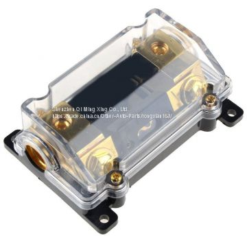 Car Stereo Audio Inline ANL Fuse Holder Transparent Vehicle Insurance Bile Seat Protection 0 2 4 Gauge 100 Amp 100A