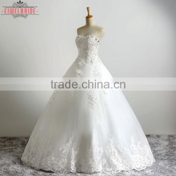 Custom Ball Gown Beading Wedding Dress Appliques