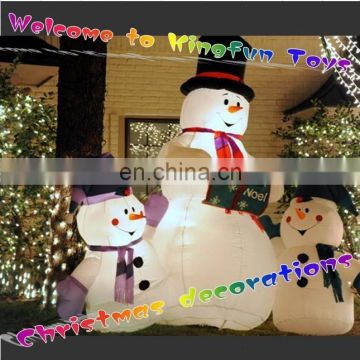 2015 New year inflatable family snowman for Christmas