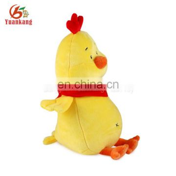 Factory cheap stuffed animals cocks sitting plush chicken toy