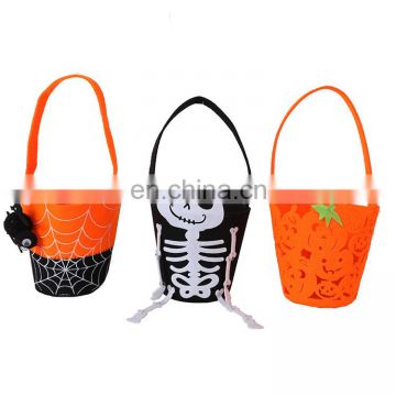 Halloween Trick or Treat Bags Candy totes Fabric Skeleton halloween bags