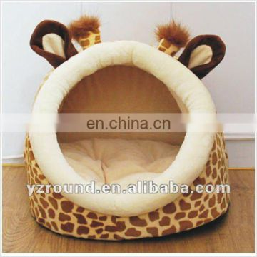 giraffe shape indoor plush dog house pet house pet cushion
