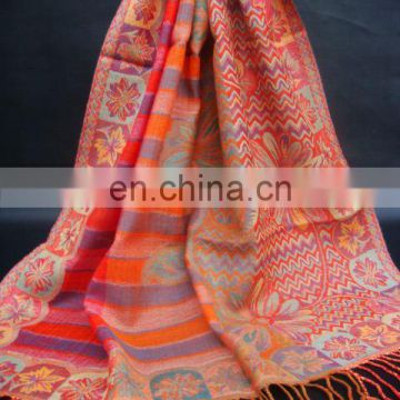 (Super Deal) 100% Wool Jacquard Shawls