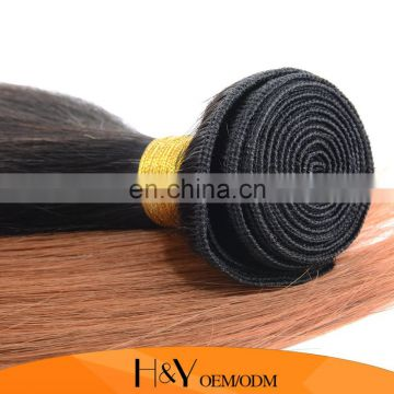 Brazilian hair silky straight weave hot selling human hair extension ombre color Brazilian straight hair