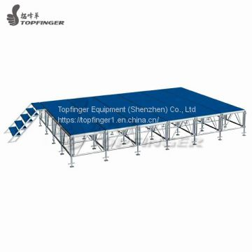 Indoor Wooden Platform Stage All Terrain Fold Out Lightweight Stage 4ftx8ft