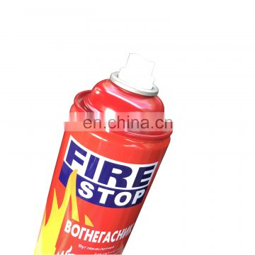 Factory direct sale  empty fire stop spray tin can with CMKY customization