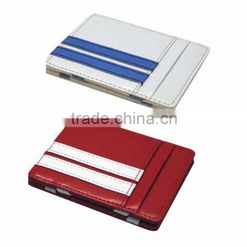Flip magic wallet with elastic band and 4 card slots