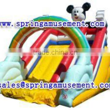 beautiful interesting mickey-mouse and rainbow inflatable slide, inflatable water slide, inflatables SP-SL092