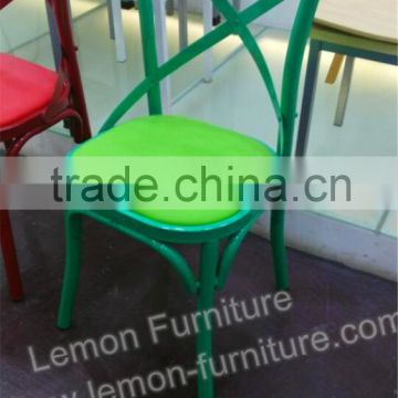 Fantastic Green And Red Colorful Modern Leather Metal Steel Chair Lamtechconsult Wood Chair Design Ideas Lamtechconsultcom