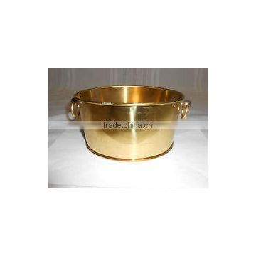 gold plated expensive shiny planters for sale