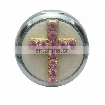 2012 New arrival selling Zinc Alloy Fashionable Bejewelled ladies mirror