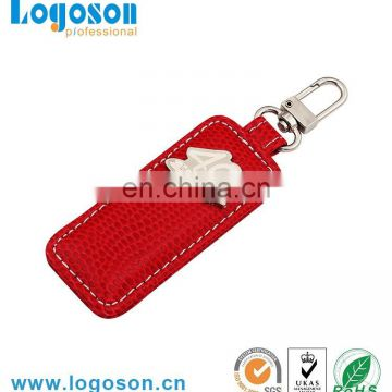 2017 fashion leather metal key chain