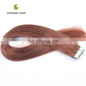 "2.5g 40pcs 30"" human ombre invisible remy tape hair extension"