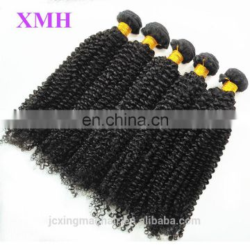 "Factory Wholesale high quality 8""-24inch large stock indian kinky curly remy hair weave"