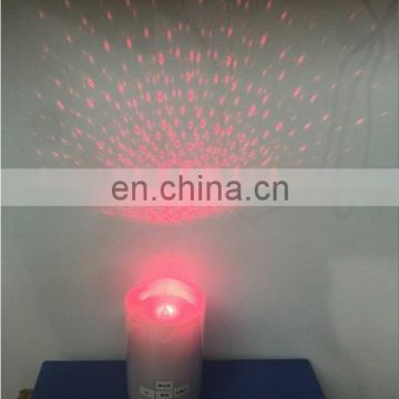 Rechareable remote controlled Flickering LASER LED WAX candle