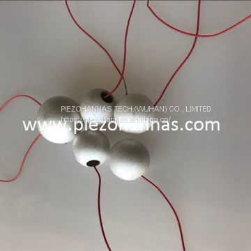 high density piezo spheres for hydrophone