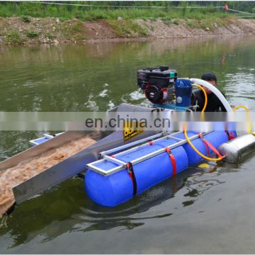 gold mining suction dredger boat for sale