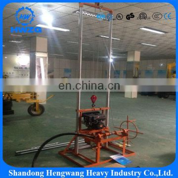 Economical Hot Exported 80-100m Portable Small Deep Water Well Drilling Rig Driven By Gas Oil
