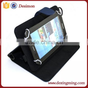 "9-10"" universal handhold leather working tablet case with lanyard"